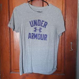 Grey under armour t shirt